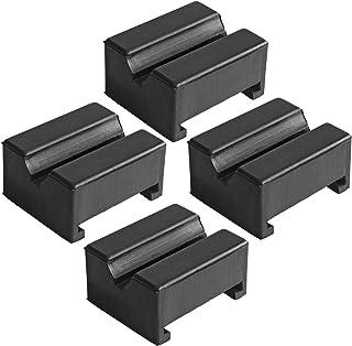 LEDAUT Adaptador Jack Pad de borracha Jack Pad 4 peças Adaptador para Jack Stand 2 – 4 toneladas Universal Borracha Chão M...