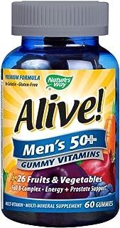 Nature's Way Alive Men's 50+ Gummy Vitamin, 60 Gummies