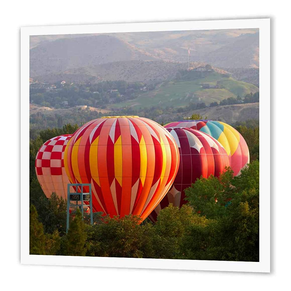 3dRose ht_209038_1 Hot Air Balloons in Ann Morrison Park in Boise, Idaho, USA Iron on Heat Transfer Paper for White Material, 8 by 8
