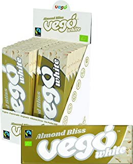 VEGO White Chocolate Bar Almond Bliss 18x50g