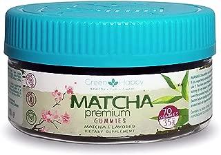 Green & Happy Matcha Gummies | Vegan, Metabolism Booster, Focused Energy, Antioxidant, Weight Loss (70 Ct)