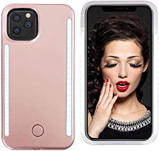 Vanjunn Selfie Light up Case Compatible with iPhone 11 Pro, LED Case with Rechargeable Back and Front Illuminated Luminous Lights for iPhone 11 Pro (Rose Gold)
