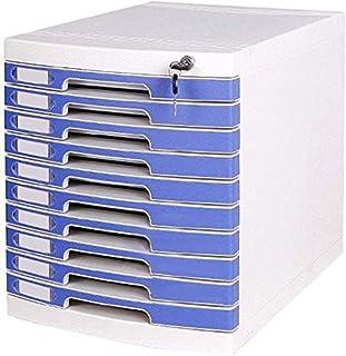 Armoires à archives A4 10 tiroirs avec serrure de bureau de classement de fichiers Boîte de rangement 29,5 x 39,4 x 32,5 cm