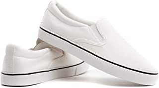 white canvas loafers