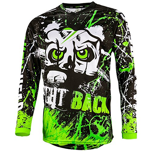 Broken Head MX Jersey Strike Back Grün - Langarm Funktions-Shirt Für Moto-Cross, BMX, Mountain Bike, Offroad - Größe M