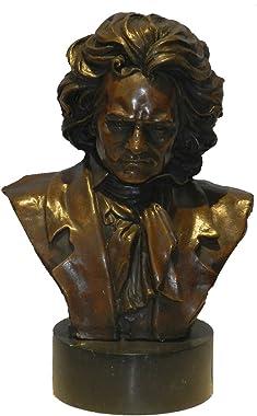 Toperkin Beethoven Bust Figurines Busts Statues Bronze Sculptures Home Decor