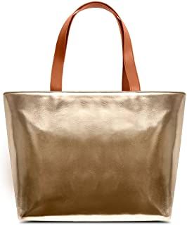 DailyObjects Women's Metallic Tote Bag | Stylish, Sturdy Handbag with Zip closure