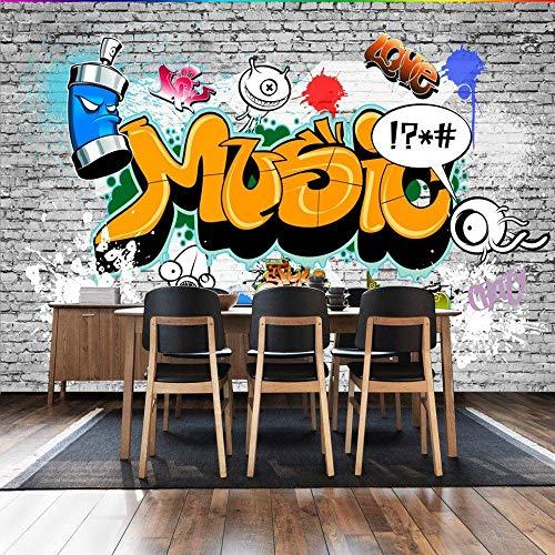 Fototapete American Retro Graffiti Bar Restaurant Hintergrundbild Gemälde Jungen Hintergrundbild -250Cmx175Cm