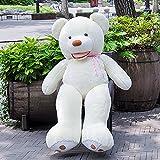 VERCART Groß Teddybär Spielzeug Kuscheltier Gigantischer Puppe Weiches Plüsch als Geschenk Geburtstagsgeschenk zur Dekoration Erwachsene Kinder 100cm