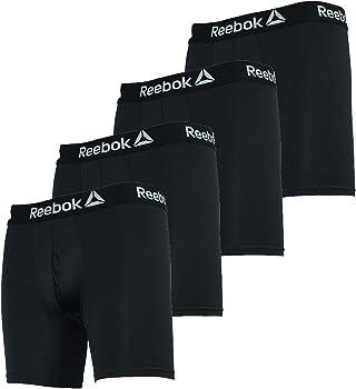 4-Pack Reebok Mens Performance Boxer Briefs (various colors)