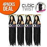 ISIS Synthetic Hair Crochet Braids A Fri-Naptural Cubic Twist (4-Pack, OM27)