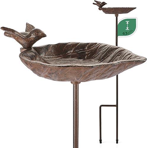 WILDLIFE FRIEND Bain d'oiseaux sur Pied, Bassin pour Oiseaux - Résistant aux Intempéries - Mangeoire, Bains avec Oise...