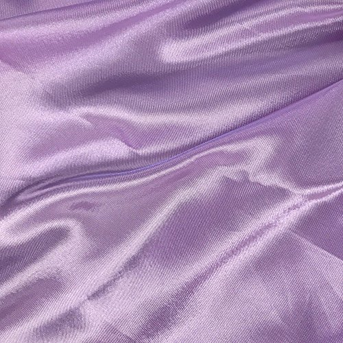 60' inches Wide - by The Yard - Charmeuse Bridal Satin Fabric for Wedding, Apparel, Crafts, Decor, Costumes (Lavender, 1 Yard)