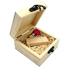 LONMAX Gift Wooden USB 2.0 Flash Drive Memroy Stick Disk with Box 16GB