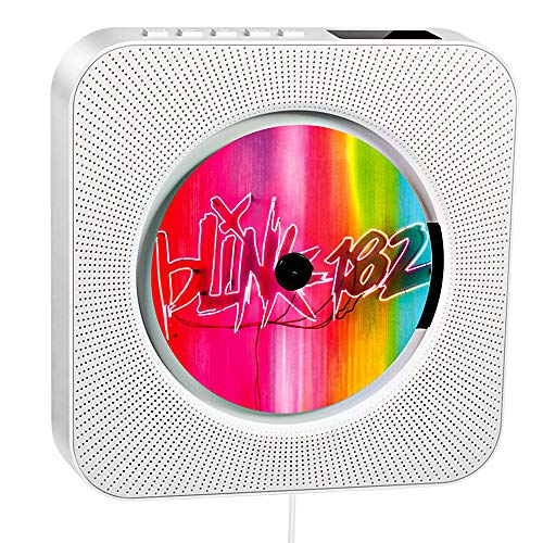 Reproductor de CD portátil, Altavoz HiFi Incorporado, Reproductor de CD de música MP3 USB con...