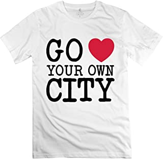 Go Love Your Own City 1 F2 White Adult Standard Weight T-Shirt For Men