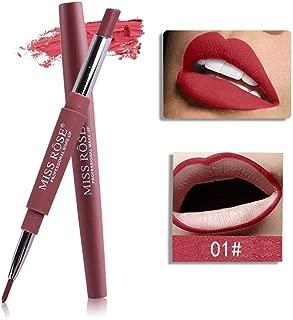 MISS ROSE 2 In 1 Lip Liner Pencil Lipstick Lip Beauty Makeup Waterproof Nude Color Cosmetics Lipliner Pen Lip Stick
