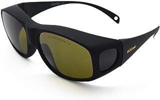 1 paquete marco negro gafas de protecci/ón para los ojos gafas de seguridad con lente antiara/ñazos Gafas de seguridad l/áser SENRISE de 190 nm a 540 nm verde