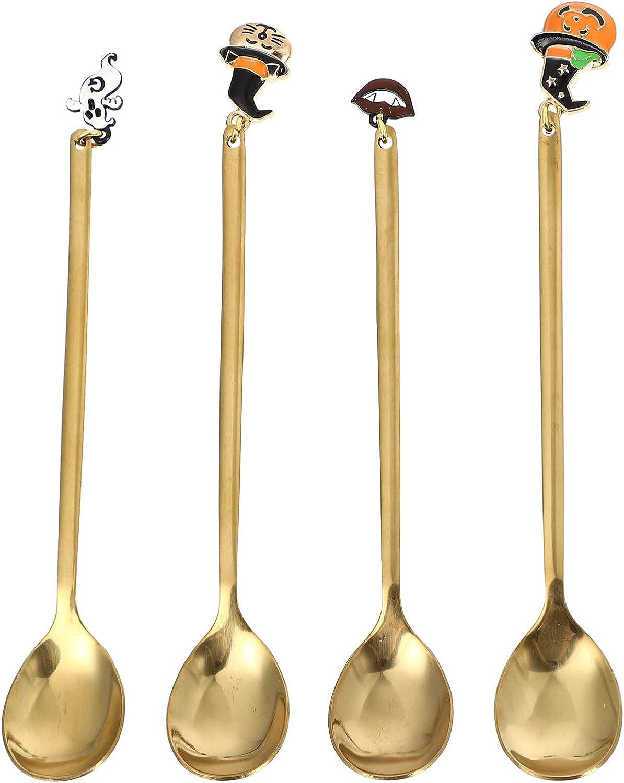 Spasm price DOITOOL 4Pcs Coffee Spoons Gold wi Ranking TOP11 Forks Dessert Stirring
