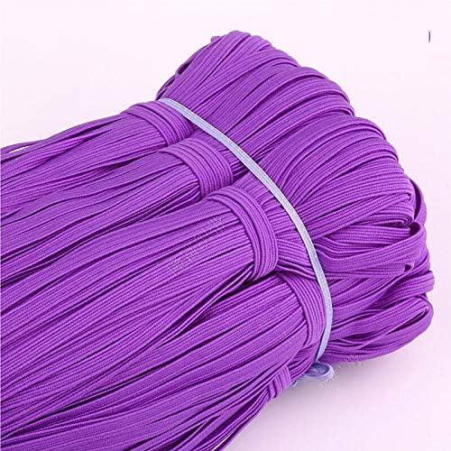 32 Yards Flat Elastic 1/4 Inch for Sewing Craft DIY Apparel-Colo