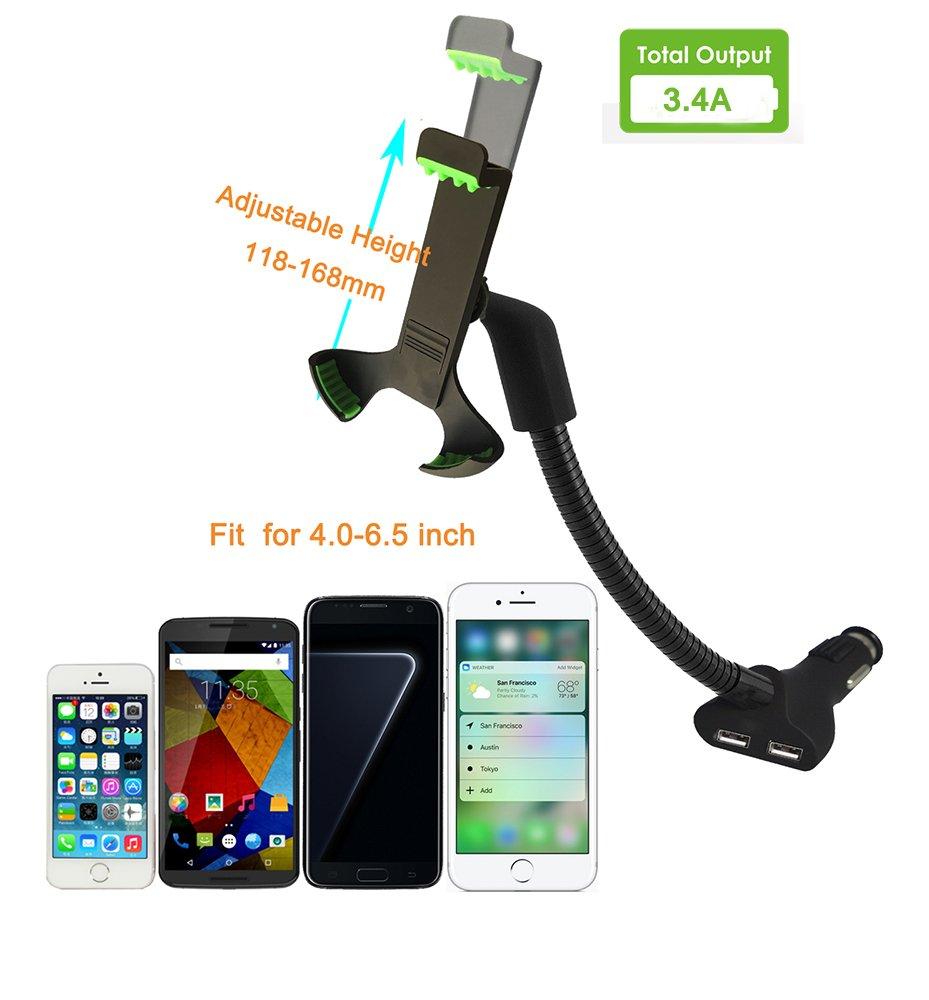 Cargador y Soporte Movil Coche,Soporte de Smartphone para iPhone ...