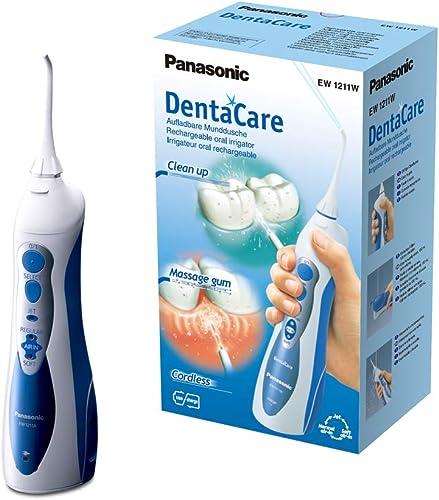 Panasonic - Personalcare EW1211W845   Jet dentaire - Système AIR + EAU 3 puissances réglables 1 canule Sans fil Réser...
