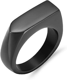 خاتم دوارة مجوهرات رماد الشعر من شاجو للرجال والنساء منقوش عليه خاتم تذكاري تذكاري، أسود 8