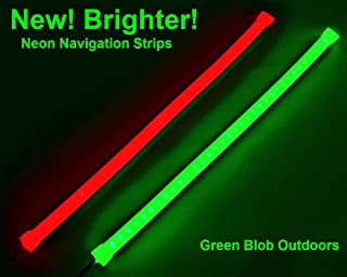Pimp My Boat Neon Navs, Premium Red & Green Neon Navigation Boat LED Light Strip Kit IP68 Waterproof for Bass Boats, Pontoons, Wave Runners, Kayaks, Ski Boats for Fresh and Saltwater