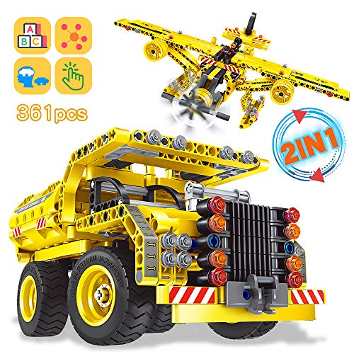 Nuduoki STEM Building Toys 361PCS Construction Engineering Kits Boy Toys for 8-12 Years Old Boys Girls Idea Educational Learning Toys...