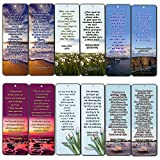 Bilingual Encouraging Bible Verses Bookmarks - Overcome Depression (60 Pack) - Perfect Giftaway for Sunday Schools and Ministries
