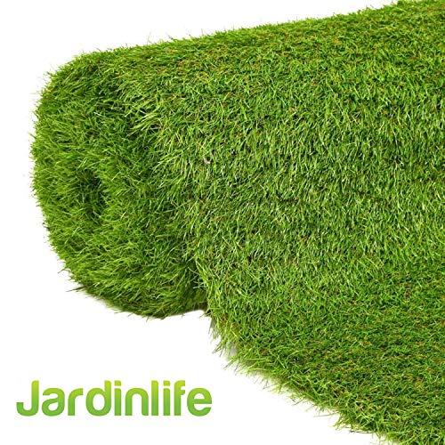 JARDINLIFE Césped Artificial Premium Rollo de 1X2m altura 30 mm para Exterior e Interior, Niños y Perros – Piscinas, terrazas, cubiertas ajardinadas