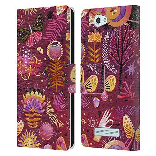 Offizielle Oilikki Schmetterling Gemischte Designs Leder Brieftaschen Huelle kompatibel mit Wileyfox Spark/Plus