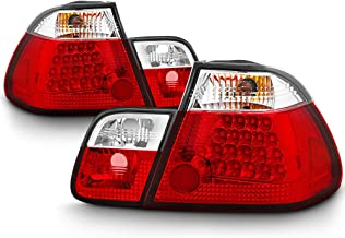 VIPMOTOZ Red Lens Premium LED Tail Light Housing Lamp Assembly For 1999-2001 BMW E46 3-Series Pre-LCI Sedan Driver and Passenger Side Replacement