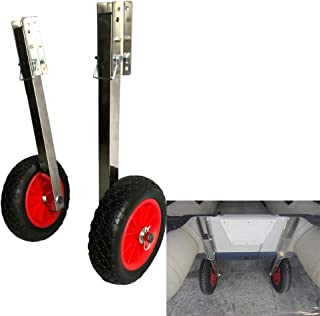 Prairie Metal Deluxe Boat Launching Wheels System for Zodiac Type Inflatable Boats and Aluminum Boats
