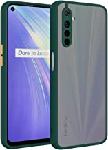 AE Mobile Accessories Back Cover For Realme XT Smoke Translucent Shock Proof Smooth Rubberized Matte Hard Back Case Cover With Camera Protection Dark Green