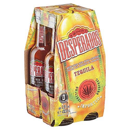 Desperados Original Biermischgetränk MEHRWEG, (4 x 0.33 l)