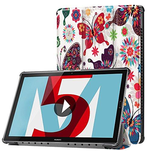 KATUMO® Huawei MediaPad M5 10.8/10.8 Pro Custodia Case,Smart Case Cover con Stand Funzione per Huawei MediaPad M5 10.8 Pollici KP Farfalla