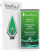 GadFull Batería de reemplazo para Samsung Galaxy S5 | Corresponde al Original EB-BG900BBE EB-BG900 | Compatible con Galaxy S5 SM-G900F batería de Repuesto