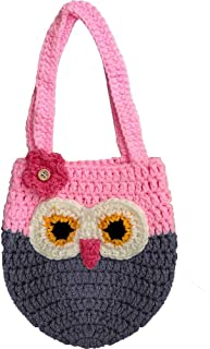 crochet owl keychain