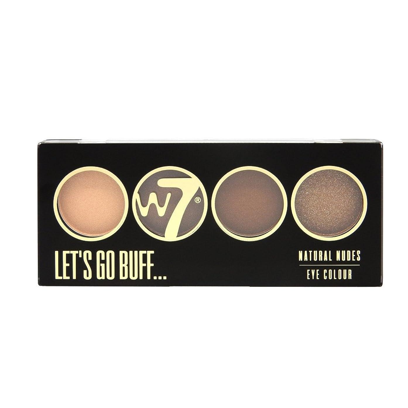 最もプレフィックス不正(3 Pack) W7 Let's Go Quad Eye Color Palette - Let's Go Buff (並行輸入品)