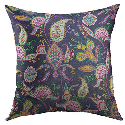 Funda de almohada decorativa para sofá, cama, decoración del hogar, cojines de cachemira, funda de almohada de 45,7 x 45,7 cm