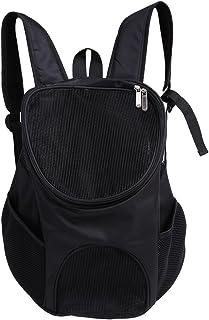 Portable Pet Shoulder Bag Breathable Pet Backpack Outdoor Travel Carrier for Pet Dog Cat Rabbit(Black)