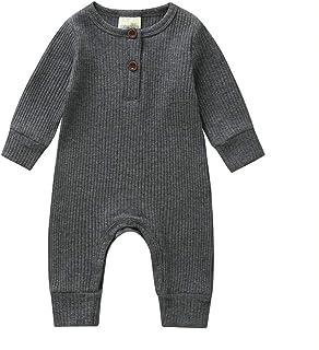 Longfei Baby Jungen / Mädchen Strick-Strampler / Overall / Bodysuit / Einteiler / Pyjama, Gerippte Outfit Kleidung
