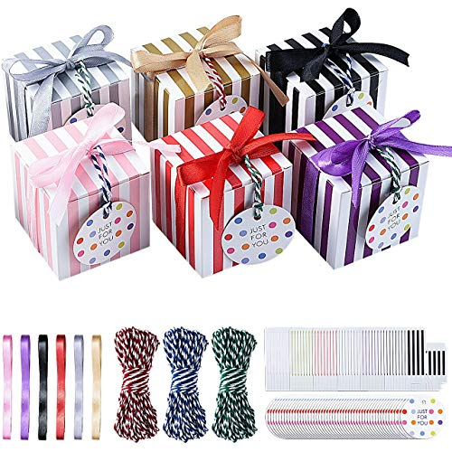 Pajaver 48 Pcs Cajas de regalo pequeñas, cajas de dulces cuadradas para...