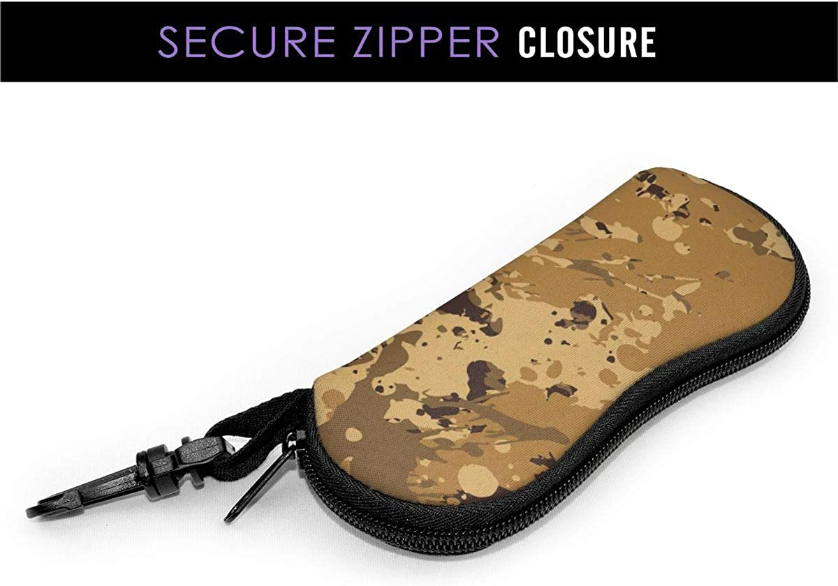 Sunglasses Soft Case Ultra Light Neoprene Zipper Eyeglass Case With Key Chain Canada Flags