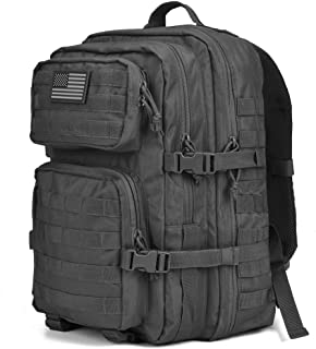 Chief Tac Military Tactical Backpack Large Army 3 Day Assault Pack Molle Bug Bag Backpack Outdoor Hunting Hiking Camping Trekking School Rucksacks 40L