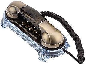 Antique Retro Corded Telephone Fashionable Corded Phone Vintage Telephone Landline Telephone with Bottom Blue Backlight In... photo