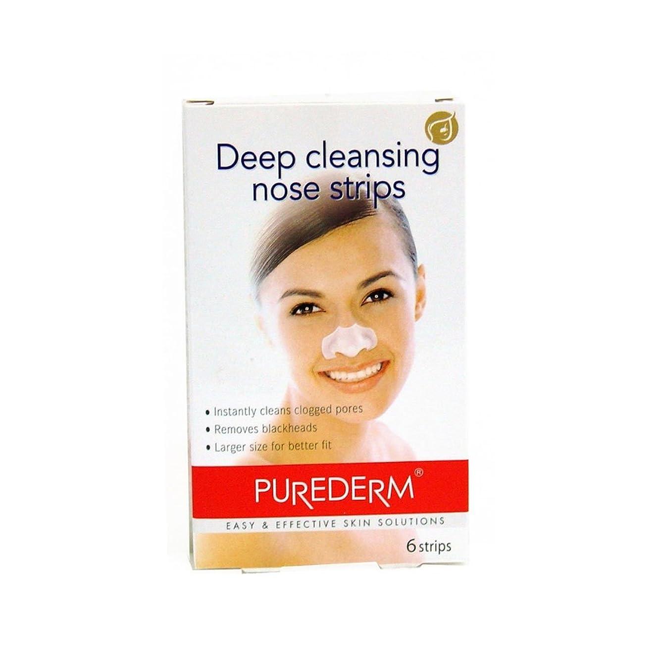 傷つきやすいはっきりと草Purederm Deep Cleansing Nose Strips X 6 [並行輸入品]