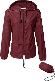 Lightweight Waterproof Raincoat For Women Packable Outdoor Hooded Rain Jacket
