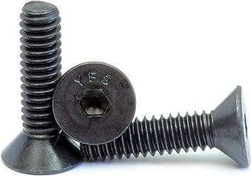 3//16 1//4 5//16 3//8 Hex Socket Bolt Countersunk Flat Head Screws Black Alloy Steel